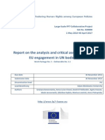 FRAME - Report on the Analysis and Critical Assessment of EU Engagement in UN Bodies