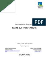 Dossier de Presse Fusion de La Normandie 8 Juin 2015