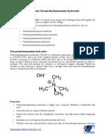 Tetramethylammonium hydroxide - Tatvachintan