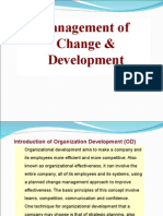 Mangament of Change of Devpmt Topic Organisation Devlpmt OD