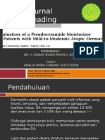 Journal Evaluation of Pseudoceramide moisturizer in mild-moderate atopic dermatitis