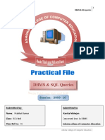 Practical File SQL queries & DBMS