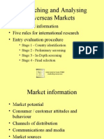 Researching and Analysing Overseas Markets 5