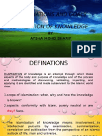 The Definations and Goals Of Islamization of knowledge