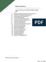 IIBM List of Electives