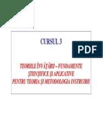 Curs 3_Teoria si metodologia instruirii