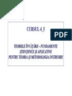 Curs 4 si 5 Teoria si metodologia instruirii