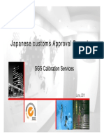 Procedure for Japan Customs Approval