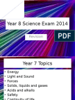 Year 8 Science Exam 2014