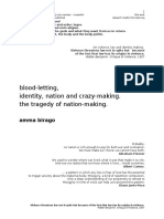 blood-letting, identity and the tragedy of nation-making.