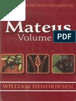 William Hendriksen - Comentário Do Novo Testamento - Mateus - Volume 1(1)