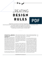 Creating Desing Rules In Watch Industry