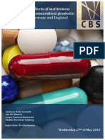 Examining the Effect of Institutions on Pricing of Pharmaceutical Products