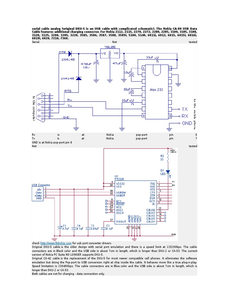 nokia 3230 dku 2 cable schematic diagram and port Electrical Diagram