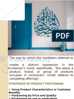 Presentation on Product Positioning