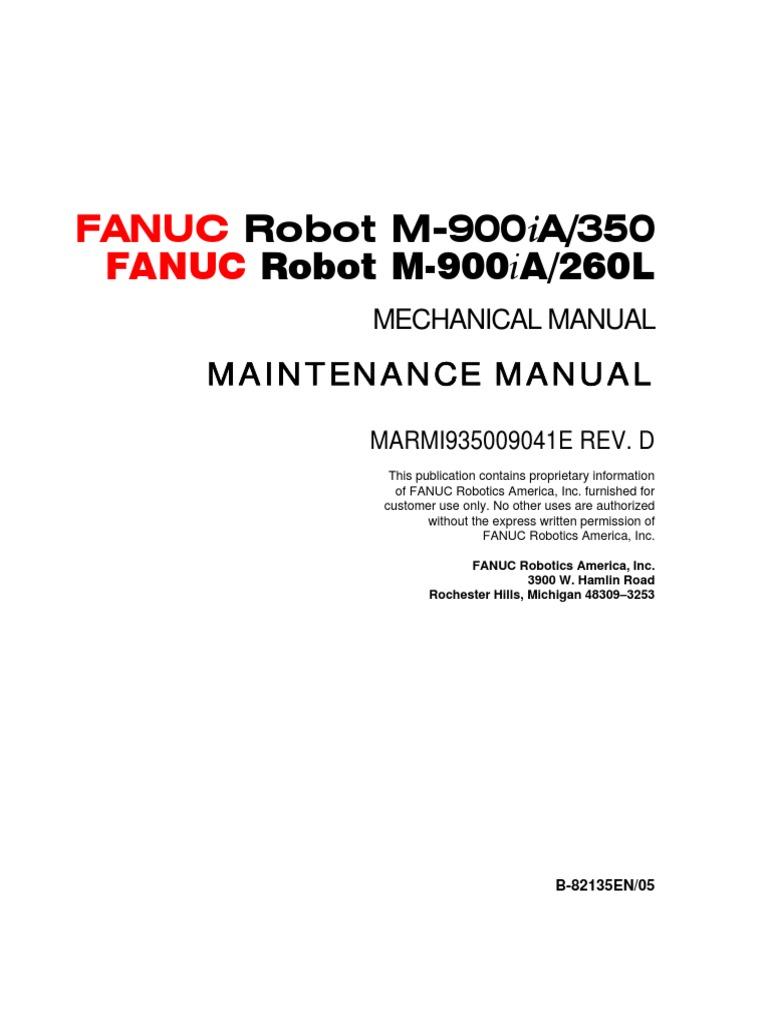 manual mecanico m900 robot technology rh es scribd com Fanuc Robot Poster Fanuc CNC