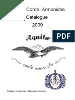 Aquila Corde Armoniche catalogo 2009