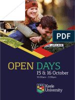 Keele October Open Day Programme