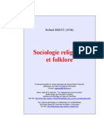 Robert Hertz (1928) Sociología Religiosa y Folklore