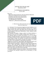 EL PATRIMONIO DOCUMENTAL En el S. XXI