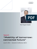 "Rupert Stadler - ""Mobility of tomorrow"