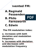 FM Review Multiple Choice
