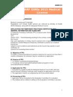 ANNEX D1 - Medical License