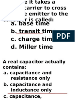 Radio Frequency Circuits Multiple Choice