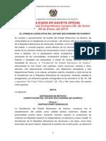 Constitución Del Estado Bolivariano de Guárico