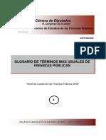 Glosario de Finanzas Públicas