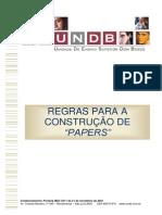 Regras Para Construção de Papers - 2014