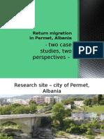 Return Migration in Permet, Albania