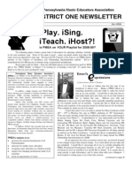 May 2008 PMEA District 1 Newsletter