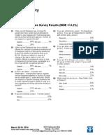 March 2014 Delaware Poll