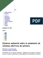 Esfuerzo Ambiental Sobre El Aislamiento de Sistemas Eléctricos de Potencia _ Sector Electricidad _ Profesionales en Ingeniería Eléctrica