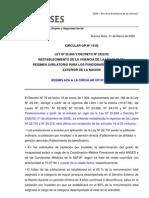 GP14-08 Jubilaciones RREE Reestablece Ley 22731 Reemplaza GP09-04