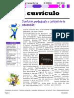 Boletin Informativo sobre el curriculo