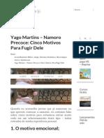 Voltemos Ao Evangelho _ Yago Martins - Namoro Precoce_ Cinco Motivos Para Fugir Dele