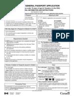 Passport Application Under16 (CANADA)