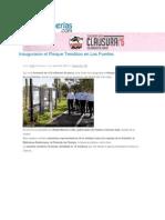 09-06-2015 Poblanerías.com - Inauguraron El Parque Temático en Los Fuertes
