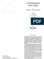 Ludwig Wittgenstein-Notebooks, 1914-1916-University of Chicago Press (1984)