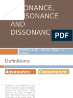 ap 11 - assonance consonance and dissonance