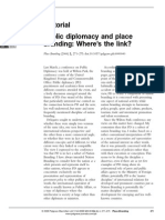 Anholt Editorial - Public Diplomacy and Place Branding - Wheres the Link
