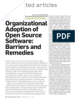 Organizational Adoption of Open Source Software