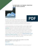 Cambios Climáticos Observados y Sus Impactos
