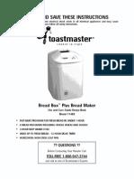Receitas máquina de pão Toastmaster l 0803192