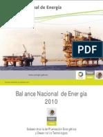 Balance Nacional de Energía 2010