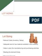 Lot Sizing - Comprehensive