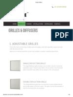 Grilles _ Diffuser