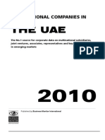 Multinational Companies in UAE - 2010